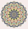 circle lace organic ornament mandala vector image vector image