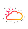 cloud and sun sign icon weather symbol vector image vector image