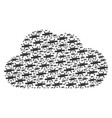 cloud collage of barbed wire icons vector image