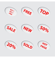 Collection of red sale icons vector | Price: 1 Credit (USD $1)
