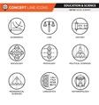 Concept Line Icons Set 9 Social sciences vector image vector image