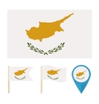 Cyprus country flag vector image vector image