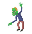 dancing zombie icon cartoon style vector image