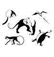 Decor animal silhouette vector image vector image