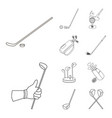 design of stick and field symbol vector image