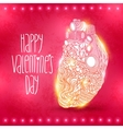 Doodle heart Valentines day vector image vector image