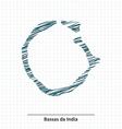 Doodle sketch of Bassas da India map vector image vector image