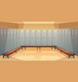 empty dressing room with closed lockers vector image vector image