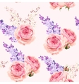 English roses and lilac seamless vector image vector image