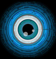 eyeball future technology security concept vector image vector image