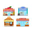 facades mini stores vector image