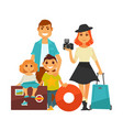 family people travel flat icons woman man vector image vector image