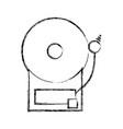 figure school bell education alarm alert vector image