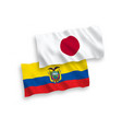 flags japan and ecuador on a white background vector image