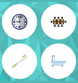 flat icon oneday set of tub boardroom dental and vector image vector image
