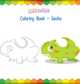 Gecko coloring book educational game vector image vector image