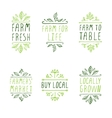 Hand-sketched typographic elements Farm product vector image