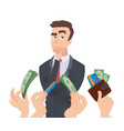 high qualification employee manager thinking vector image