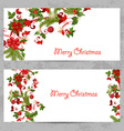 invitation cards with a Christmas pattern for your vector image vector image