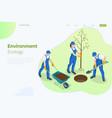 isometric community work day environment vector image