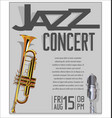 jazz festival background 6 vector image vector image