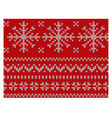 knitted endless pattern of white snowflakes on a vector image vector image