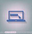 laptop with symbol web arrow vector image vector image