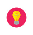 lightbulb - concept colored icon in flat graphic vector image vector image