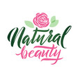 logo natural beauty lettering custom vector image vector image
