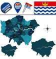 map of greater london uk vector image