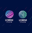 modern 3d abstract logo vector image vector image
