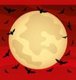 moon in red sky vector image vector image