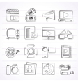Movie and cinema icons vector image vector image