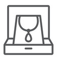 necklace in box line icon jewellery and accessory vector image vector image