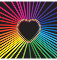 pencils heart vector image vector image