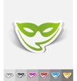 realistic design element mask vector image vector image