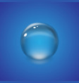 realistic water drop vector image