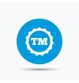 Registered TM trademark icon Intellectual work vector image vector image