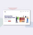 resource exploration and production landing page vector image