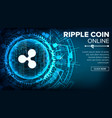 ripple abstract technology background vector image vector image