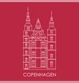 rosenborg castle symbol copenhagen denmark vector image