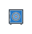 safe related glyph icon vector image vector image