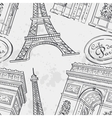 Seamless texture with the Eiffel Tower vector image vector image