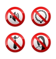 set prohibited signs - office vector image vector image