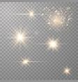set transparent flares vector image