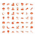 sky icons vector image vector image
