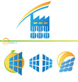 Solar factory icons vector image vector image