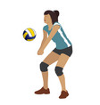 sport volleyball female game play vector image vector image