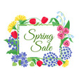 spring flower sale background mother day 8 march vector image