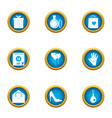 subjoin love icons set flat style vector image vector image